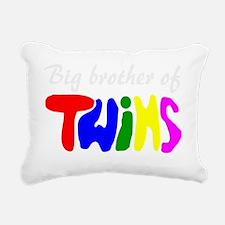 Big brother of twins Rectangular Canvas Pillow