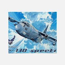 Air Force AC-130 Spectre Throw Blanket