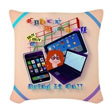 circle Cyber Monday-Bring It O Woven Throw Pillow