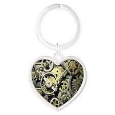 GearsMousepad Heart Keychain