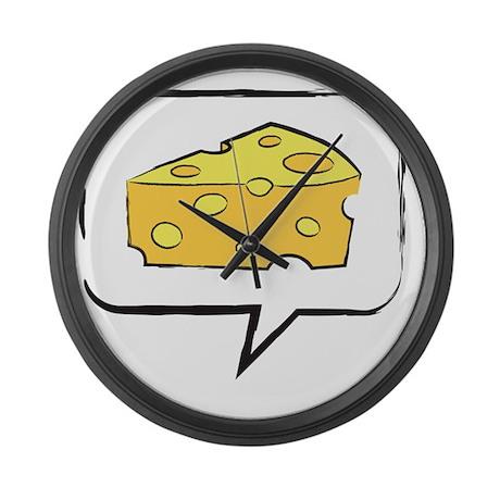 say cheese Large Wall Clock