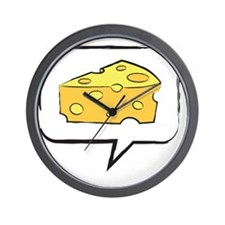say cheese Wall Clock