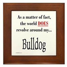 Bulldog World Framed Tile