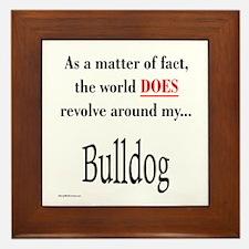Bulldog World Framed Tile