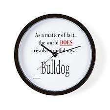 Bulldog World Wall Clock
