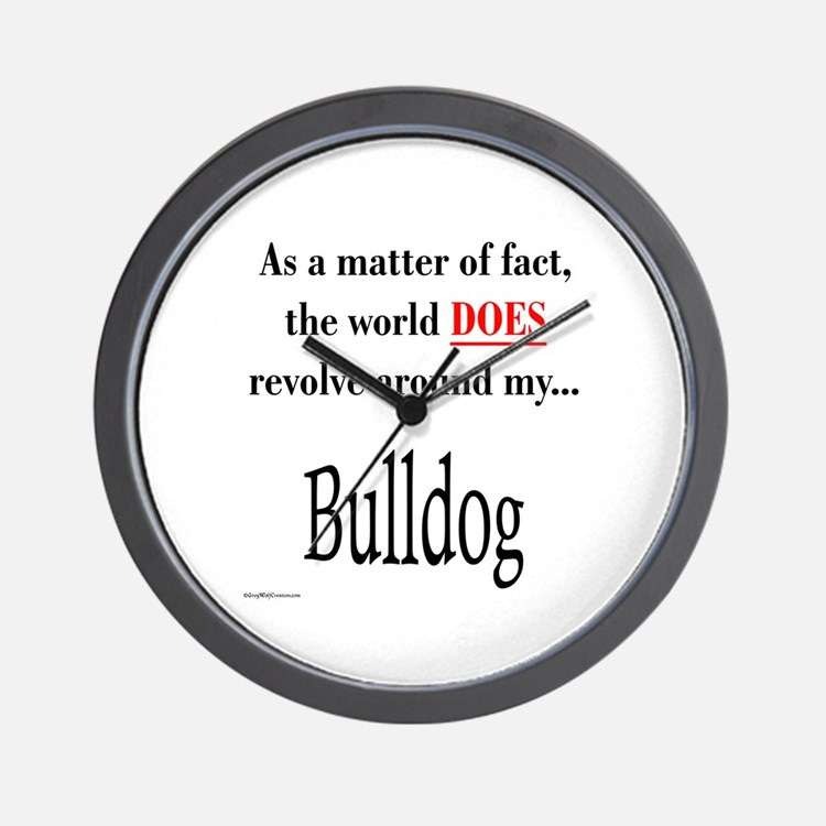 Bulldog World Wall Clock