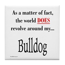 Bulldog World Tile Coaster