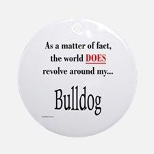Bulldog World Ornament (Round)