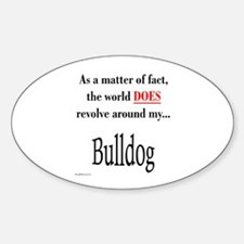 Bulldog World Oval Decal