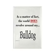 Bulldog World Rectangle Magnet