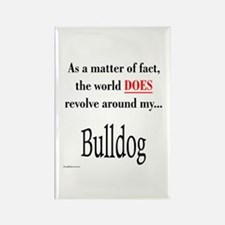 Bulldog World Rectangle Magnet