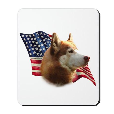 Husky(red) Flag Mousepad