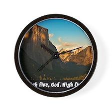 Yosemite_1327_HIGHFIVEGOD_16x20 png Wall Clock