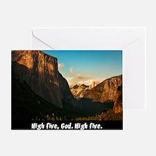 Yosemite_1327_HIGHFIVEGOD_16x20 png Greeting Card