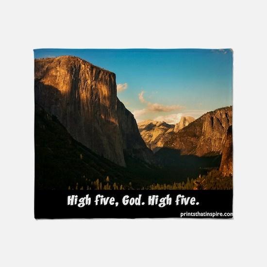 Yosemite_1327_HIGHFIVEGOD_16x20 png Throw Blanket