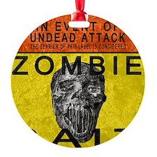 Zombie Bait Label Ornament