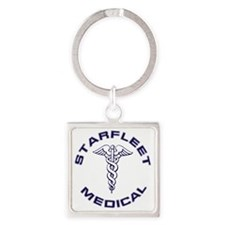 Starfleet Medical Transparent Square Keychain