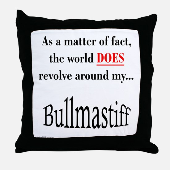 Bullmastiff World Throw Pillow
