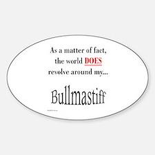 Bullmastiff World Oval Decal