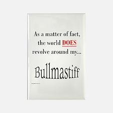 Bullmastiff World Rectangle Magnet