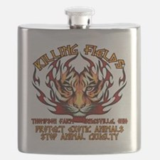animal cuelty tiger Flask