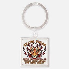animal cuelty tiger Square Keychain