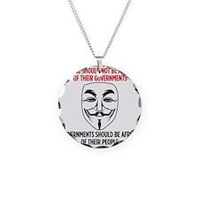 V Mask Necklace