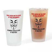 V Mask Drinking Glass