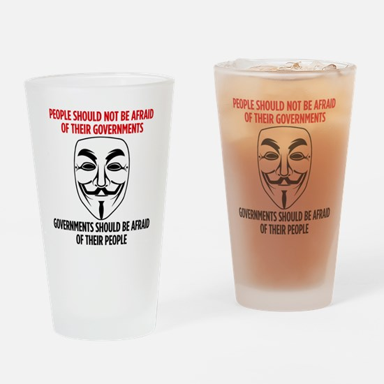 V Mask Drinking Glass