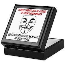 V Mask Keepsake Box