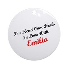 In Love with Emilio Ornament (Round)