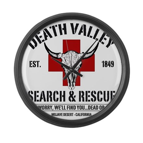 DEATH VALLEY RESCUEc Large Wall Clock