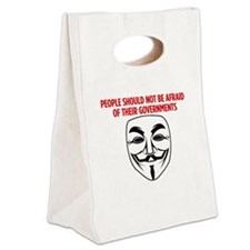 V Mask KO Canvas Lunch Tote