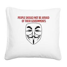 V Mask KO Square Canvas Pillow
