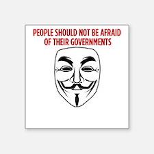 """V Mask KO Square Sticker 3"""" x 3"""""""