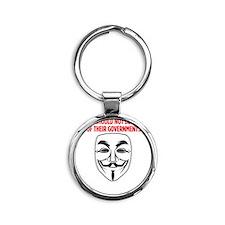 V Mask KO Round Keychain