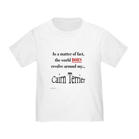 Cairn Terrier World Toddler T-Shirt