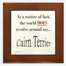 Cairn Terrier World Framed Tile