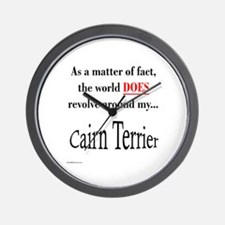 Cairn Terrier World Wall Clock