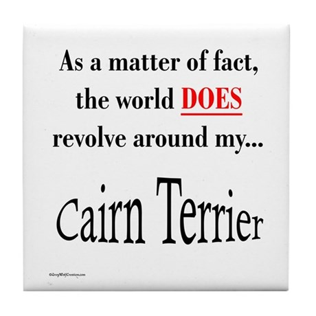 Cairn Terrier World Tile Coaster