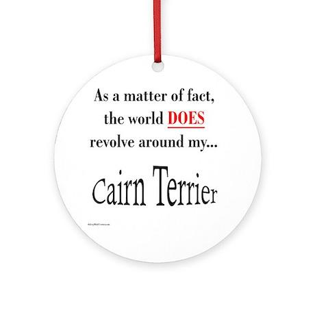 Cairn Terrier World Ornament (Round)