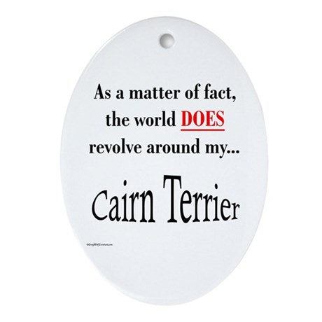 Cairn Terrier World Oval Ornament