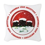 Remember Your Ancestors Woven Throw Pillow