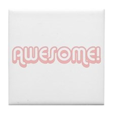 Pink Awesome 80's Tile Coaster