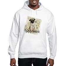 pug mom on background Hoodie