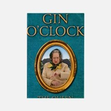 Gin OClock book Rectangle Magnet