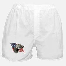 Weimaraner Flag Boxer Shorts