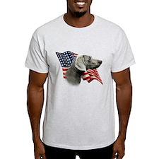 Weimaraner Flag T-Shirt