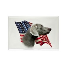 Weimaraner Flag Rectangle Magnet
