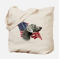 Weimaraner Flag Tote Bag